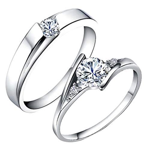 Ring-Schmuck,◕‿◕ Tianya,Ringe in Bijouterie, Luxuriöse und elegante Diamanten, geometrische runde Männer- und Frauenringe, Paarschmuck, Weihnachtsgeschenke -