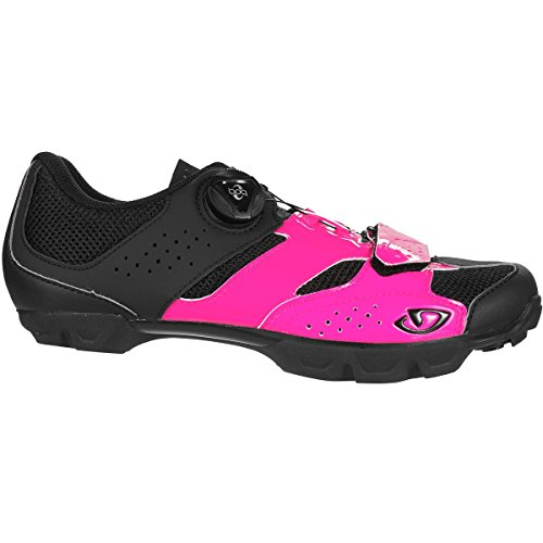 Giro Damen Cylinder MTB Radsportschuhe - Mountainbike, Mehrfarbig (Bright Pink/Black 000), 41 EU