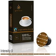 Gourmesso Lungo Arabica Forte - 10 cápsulas de café compatibles para cafetera Nespresso® - Comercio justo