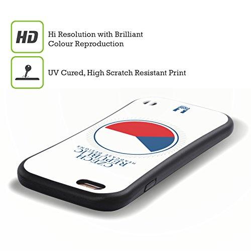 Head Case Designs Drapeau Canadien Drapeau Avec Armes Étui Coque Hybride pour Apple iPhone 6 / 6s Drapeau De La République Tchèque