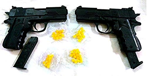 Shivsoft ™ Mini Toy Gun (2 Pieces) and 6 mm Plastic BB Bullets