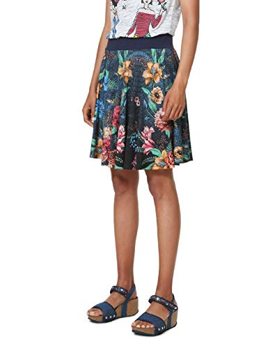 Desigual Skirt Short Curiosity Woman Blue Falda