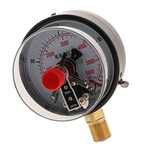 YXC100 Manómetro Digital Medidor de Presión para Hidráulica, Presión de Aceite,Barómetro - vacío...