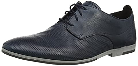Clarks Herren Otoro Walk Derby, Blau (Navy Leather), 41.5