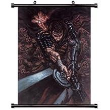 Berserk Tela de pared Scroll Póster de personajes de manga japonés (81,28 cm x 96,52 cm) pulgada