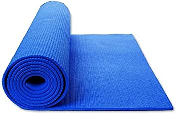 Inditradition Yoga Mat / Meditation Mat, 4 MM Thick, Anti Skid, Soft PVC, 172 x 60 CM, Random Color