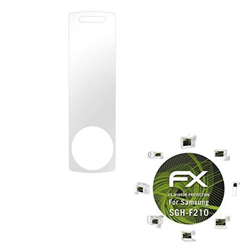 Samsung SGH-F210 Spiegelfolie - atFoliX FX-Mirror Displayschutz mit Spiegeleffekt