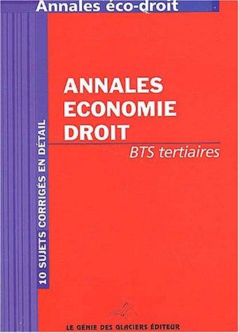 Annales économie-droit BTS Tertiaires