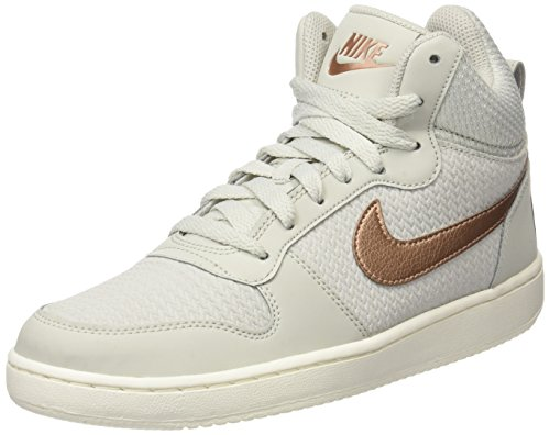 Nike Damen W Court Borough Mid Prem Basketballschuhe, Beige (Light Bone/Mtlc Red Bronze/Sail), 38 EU (Basketball Sneaker Mid)