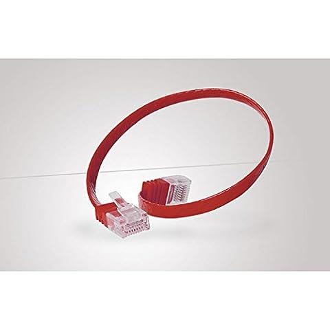 Tecline 1m Cat.6 - Cable de red (Cat6, U/UTP (UTP), RJ-45, RJ-45, Macho/Macho, Rojo)