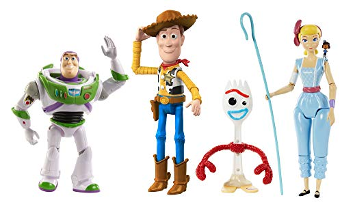 Disney Pixar Toy Story4 - Pack de figurines et petite figurine Giggle McDimples pour recréer les scènes du film