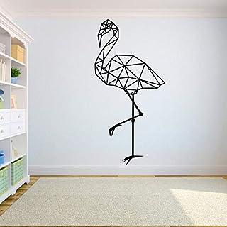 ganlanshu Flamingo Polygon Wandtattoo Tier abstrakte geometrische Kunst Wandaufkleber Innenarchitektur Home Home Office Dekoration 116cmx57cm
