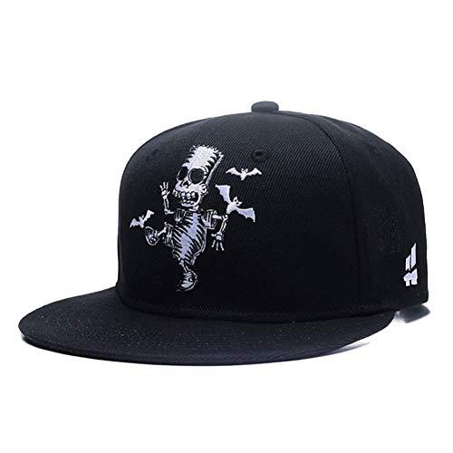 rakter Cosplay Hysteresenhut Hiphop Cartoon Niedlichen Schädel Zombie Skelett Knochen Stickerei Männer Frauen Baseballmütze ()