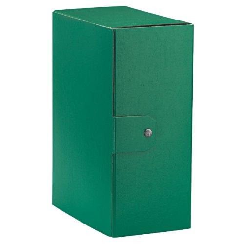 Esselte cartella a scatola per l'archiviazione di documenti a lungo termine, a4, dorso 15 cm, verde, eurobox, 390335180