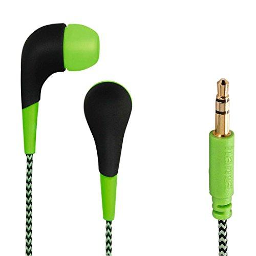 Hama 00093064 Neon Stereo In-Ear-Kopfhörer (102dB, 3,5mm Klinkenstecker) grün