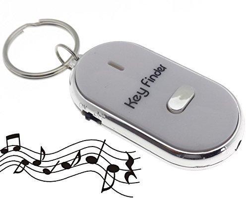 LED Pfiff Empfänger Schlüsselfinder weiss Key Finder Schlüssel Anhänger Pfeife