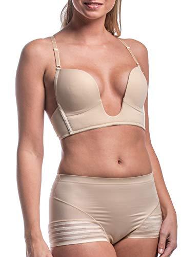 MAGIC Bodyfashion Damen V-Bra Stiefe BH, Beige (Latte 6513), NA (Herstellergröße: 75B)