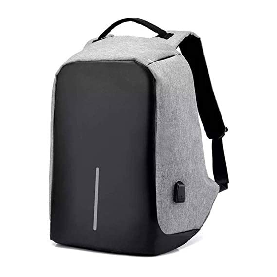 MIRROR Anti Theft Backpack Waterproof 15.6 Inch Laptop Bagpack USB Charging Port 30 Ltrs Travel Hiking Fashion Business Bag for Men Women Unisex School College Office (Grey)