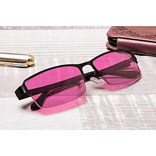 Red Green Colour Blind Glasses für Männer Frauen korrektive Achromatopsie, Rot-Grün-Blindheit, Farbschwäche, Mild Medium Grade, Black Frame,redhalfframe