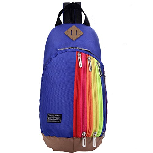 Lerben moda donne petto borsa a tracolla zaino da viaggio all' aperto escursioni campeggio sport zaino a tracolla zaino, donna, Black, Taglia unica Deep Blue