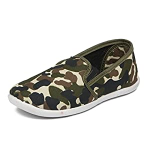 Asian shoes HUNTER-02 Army Canvas Kids Shoes