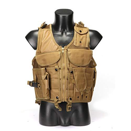 LY-01 Chaleco táctico Militar Chaleco de Combate Multifuncional, Ropa de protección Transpirable,...