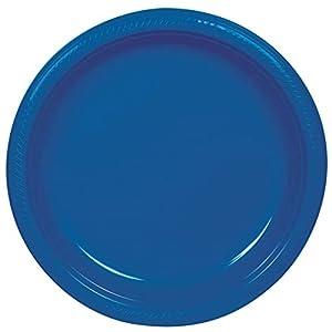 Amscan International Amscan 552285-105 - Plato de plástico (22,8 cm, 10 unidades), color azul