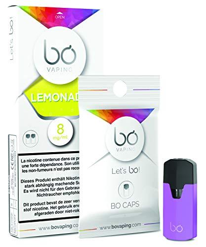 BO Caps | Set 3 Packungen x 2 Caps x 1,5 ml BO Pods | Einwegkapsel | Sweet and Drink Serie | BO Vaping | 0,0 mg (ohne Nikotin) | Lemonade