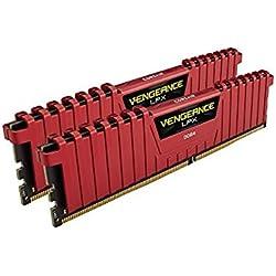 Corsair Vengeance LPX - Módulo de Memoria XMP 2.0 de Alto Rendimiento de 16 GB (2 x 8 GB, DDR4, 3200 MHz, C16) Color Rojo