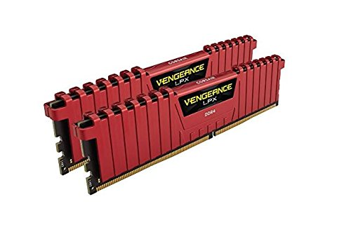 Corsair Vengeance LPX 16GB (2x8GB) DDR4 3200MHz C16 XMP 2.0 High Performance Desktop Arbeitsspeicher Kit, rot - Pc-3200 Ddr-ram
