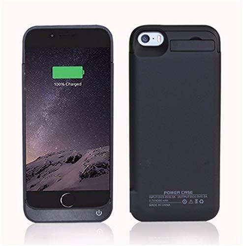 Cover batteria per iphone se 5se 5 5s,4200mah ricaricabile custodia batteria per iphone se 5se 5 5s,esterna protettiva power bank case portatile backup caricabatterie nero