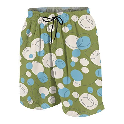hulili Swim Trunks Cockles and Shells Retro Ocean Beach Beach Shorts Printed Funny Quick Dry for Kids Boys -