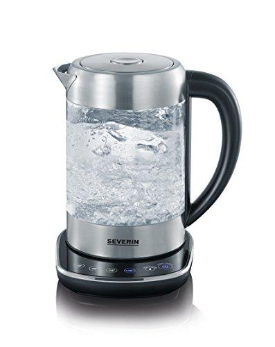 Severin WK 3471 Glas-Tee Wasserkocher, Glas edelstahl gebürstet - 3