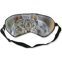 Bequeme Schlafmaske, silberfarben, getigerte Katze, bedruckt, Schlafmaske für Reisen, Mittagsschlaf oder Mediation... preisvergleich bei billige-tabletten.eu