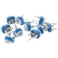 SODIAL- 10 x Potenciometro 6mm, 10k ohm Horizontal Variable Cermet modelo UK