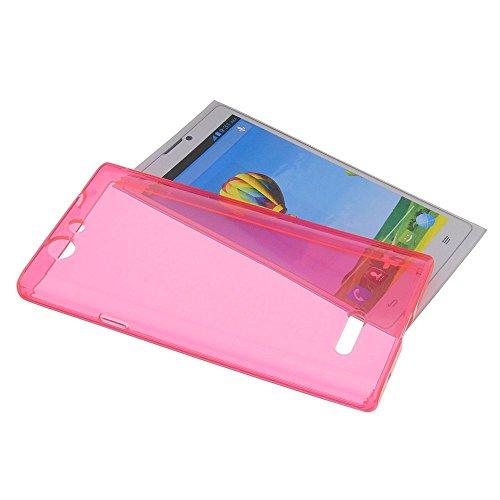 Tasche für ZTE Blade L2 Gummi TPU Schutz Handytasche transparent pink