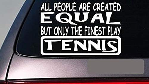 CELYCASY Aufkleber E460 Tennis All People Equal, 15,2 cm, Vinyl
