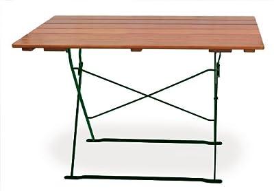 Biergartengarnitur 1x Tisch 120x70 cm & 4x Stuhl EuroLiving Edition-Classic ocker/grün von Euro-Windkat GmbH - Gartenmöbel von Du und Dein Garten