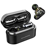 Auriculares Inalámbricos Bluetooth 5.0 TWS SoundPEATS Truengine Plus True Wireless Cascos IPX6 con Micrófono Dual Drivers Audífonos In-Ear Manos Libres Negro (Truengine Plus)
