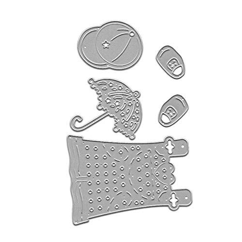 Kleid Hut Regenschirm Metall Stanzformen Schablone DIY Scrapbooking Album Stempel Papier Karte Präge Handwerk Dekor ()