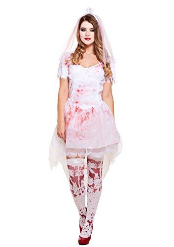 Blutige Braut Kostüm (Weiß)