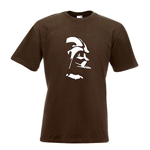 KIWISTAR - Sith Silhouette - Lord Vader T-Shirt in 15 verschiedenen Farben - Herren Funshirt bedruckt Design Sprüche Spruch Motive Oberteil Baumwolle Print Größe S M L XL XXL Chocolate