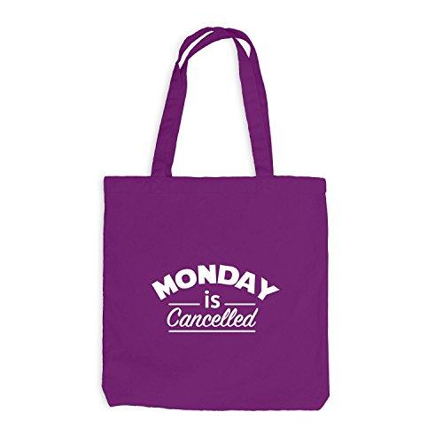 Jutebeutel - Monday is cancelled - Montag Work Magenta