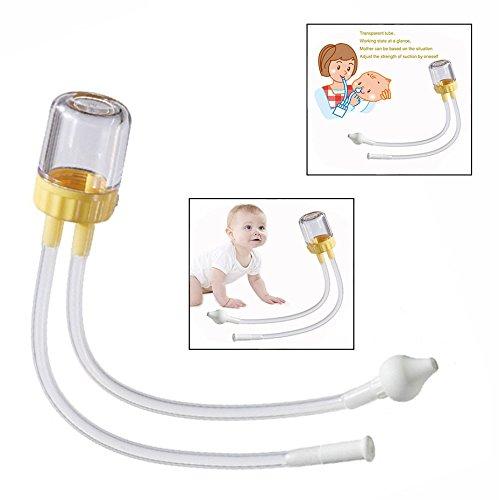 Cisixin Baby Sicherheit Nasensauger,Nase Reiniger Vakuum Saug,Waschbar und wiederverwendbar