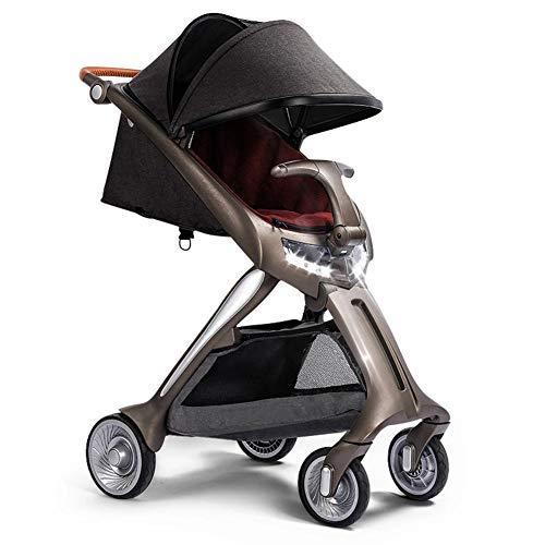 GKBMSP Kinderwagen Leichter Faltbarer Kinderwagen Reisesystem Kinderwagen mit 20kg Sitz- und Liegefläche Geeignet für das Flugzeug,Red