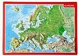 Reliefpostkarte Europa