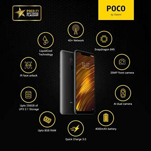 Poco F1 by Xiaomi (Graphite Black, 8GB RAM, 256GB Storage)