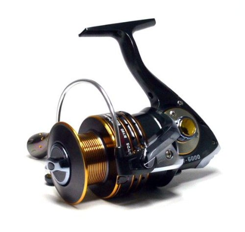 SW6000 11+1 Ball Bearings Aluminum Spool Saltwater Spinning Fishing Reel FR210