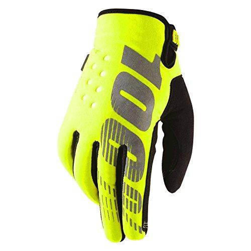 100% BRISKER YELLOW Motocross Handschuh - gelb Größe XL (Downhill-mountain-bike-bremsen)