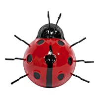 Set of 6 Metal Ladybird & Bee Garden Wall Art Ornaments from Gardens2you